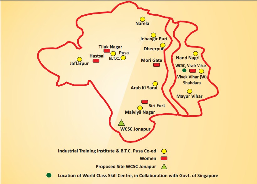 WCSC vivek vihar, Delhi Location Map