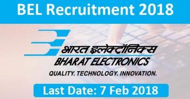 BEL recruitment 2018: New vacancies announced for engineers