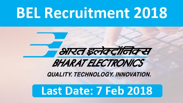BEL recruitment 2018: New vacancies announced for engineers