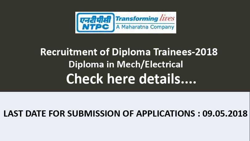 NTPC-Recruitment of Diploma Trainees-2018
