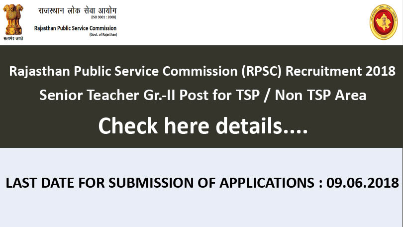 RPSC Senior Teacher Gr.-II Recruitment 2018