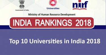 Top 10 Universities in India 2018