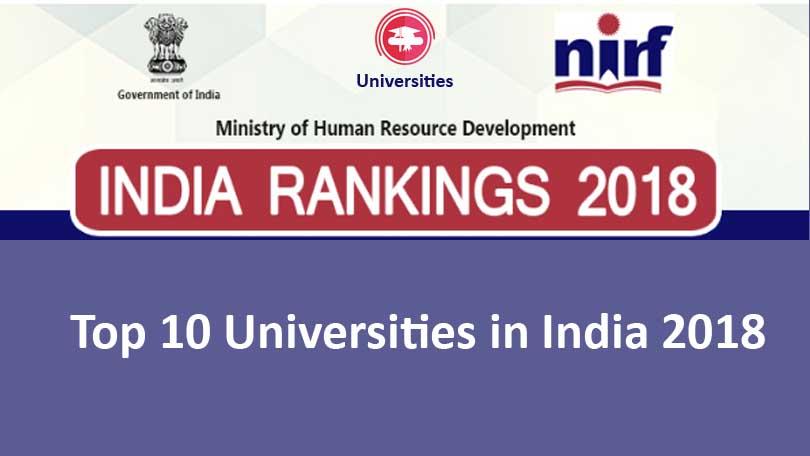 Top 10 Universities in India 2018