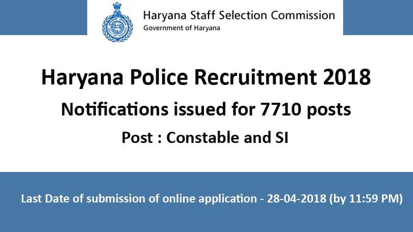 haryana-police-recruitment-2018-for-SI-and-contable