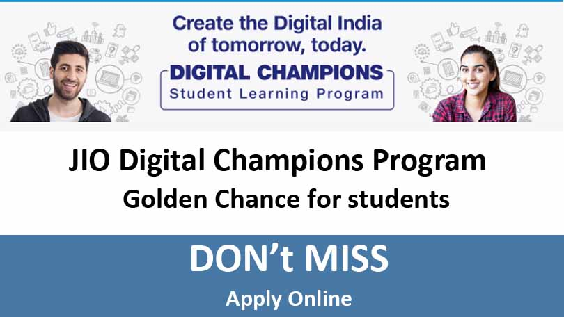 Digital Champions Program by JIO