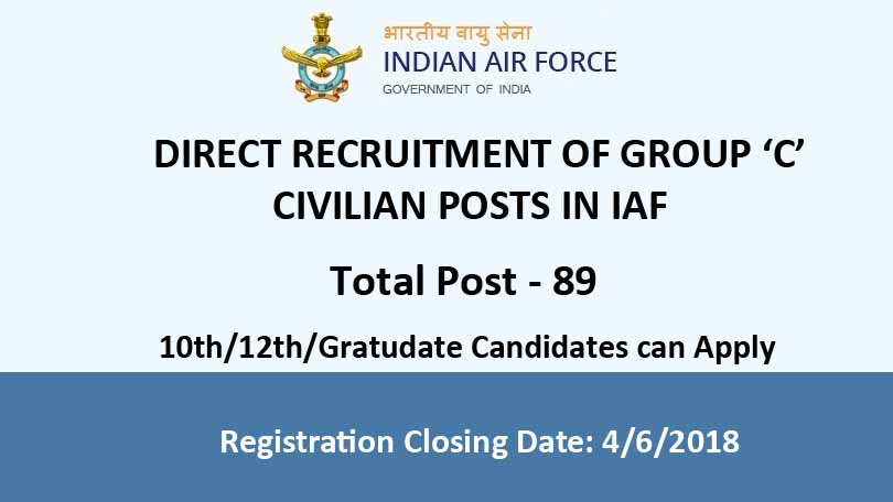 IAF invites applications for various posts