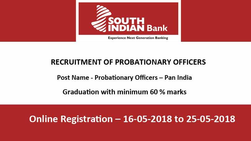 SIB PO Recruitment 2018
