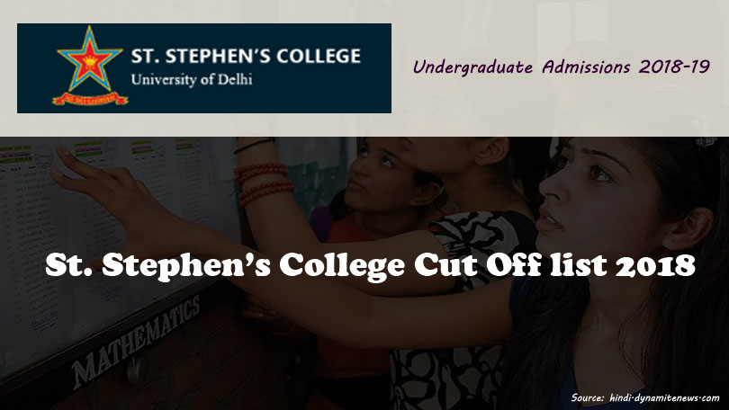 St. Stephen's College-cut-off-list-2018