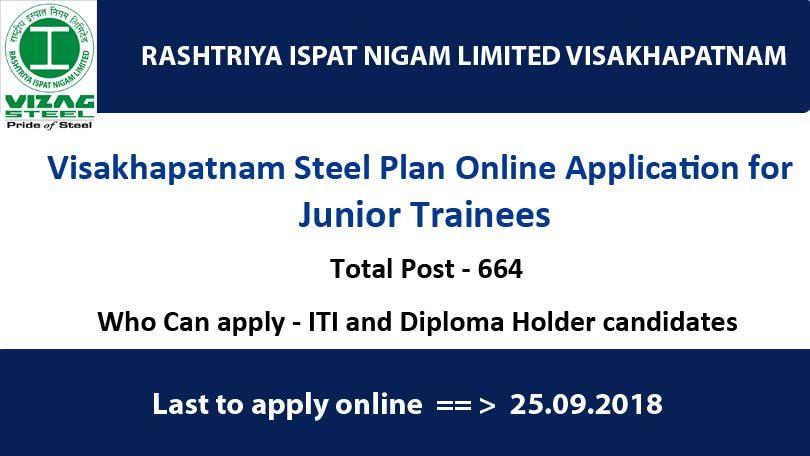 Visakhapatnam Steel Plant recruitment 2018