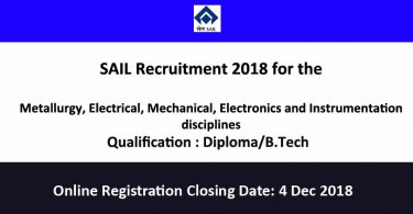 SAIL-Recruitment 2018
