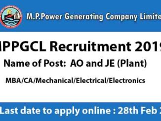 MPPGCL Recruitment 2019-ao-je-plant